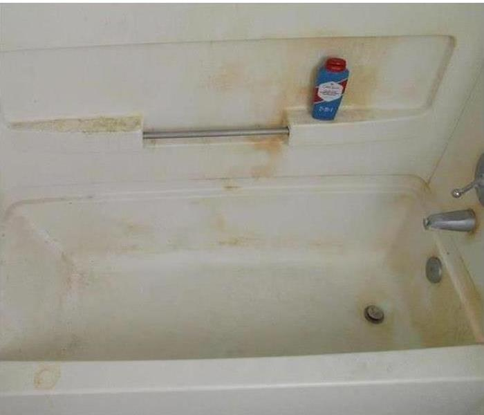 Moldy Tub/Shower Installation in Newton Before
